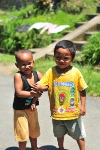 Two little people friends that I made while cycling through Bali.